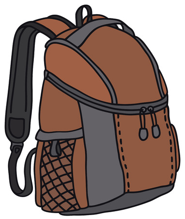 swag: Hand drawing of a red kit bag
