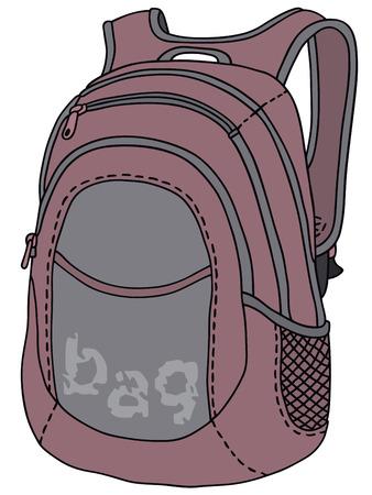 Disegno a mano di un sacchetto di kit di viola