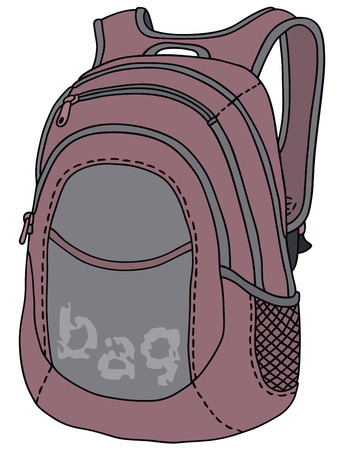 swag: Hand drawing of a violet kit bag
