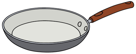 fryer: Hand drawing of a ceramic pan Illustration