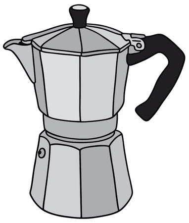 percolator: Hand drawing of a classic espresso maker