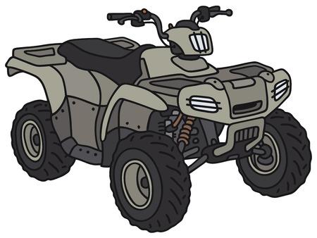 Gráfico de la mano de un vehículo todo terreno militar divertido - no es un modelo real Foto de archivo - 35456220
