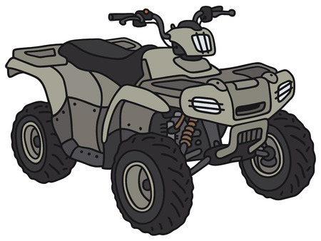 Hand drawing of a funny military ATV - not a real model