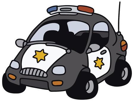 Disegno a mano di un divertente auto americana della polizia - non un vero e proprio modello