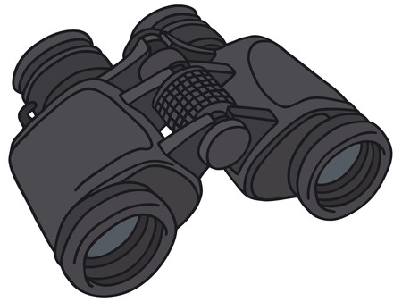 spy glass: Hand drawing of a binoculars Illustration