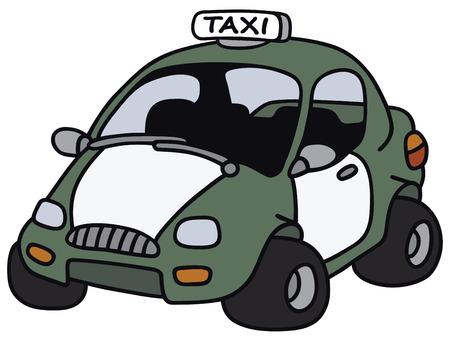 motor de carro: Gr�fico de la mano de un taxi divertido - no es un modelo real