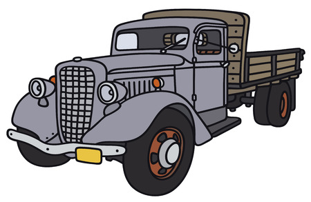 Hand drawing of a classic truck - not a real model Illustration