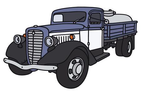 Disegno a mano di un camion cisterna latteria classico - non un vero e proprio modello di