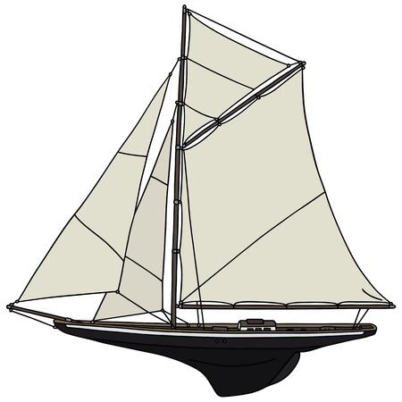 Disegno a mano di una barca a vela classica - non un vero e proprio modello di