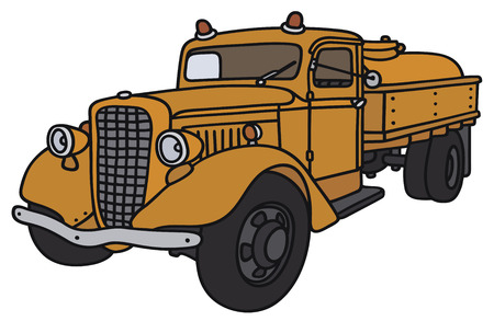 Hand drawing of a classic tank truck - not a real model