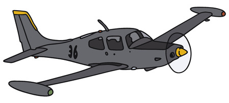 Hand drawing of a propeller aircraft - not a real model Illustration
