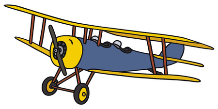 biplane: Hand drawing of an old biplane - not a real model Illustration