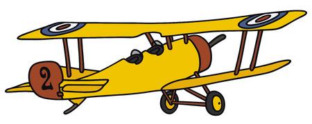 Disegno a mano di un biplano d'epoca - non un vero e proprio modello di Vettoriali