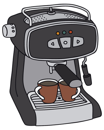 percolator: Hand drawing of an electric espresso maker - not a real type