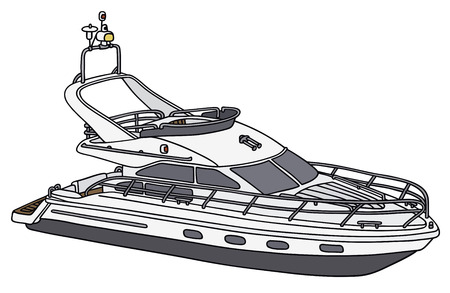 sailer: Hand drawing of a motot yacht - not a real model