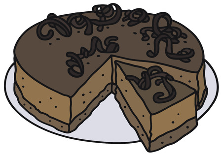 junket: Hand drawing of a chocolate cake
