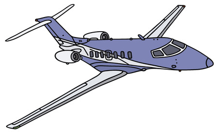 small business: Hand drawing of a small business jet - not a real type