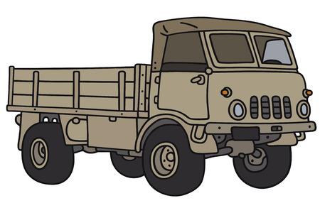 Disegno a mano di un vecchio piccolo terreno camion militare - non � un vero e proprio modello