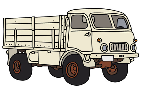 Hand drawing of an old terrain truck - not a real model