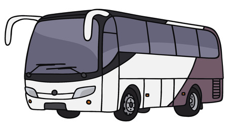 motor coach: Hand drawing of a bus - not a real model Illustration