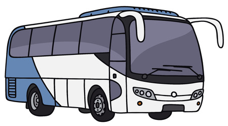 motor coach: Hand drawing of a touristic bus - not a real model Illustration