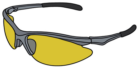 eye glass frame: Hand drawing of a sport glasses Illustration
