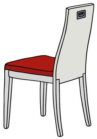 Disegno a mano di una sedia bianca