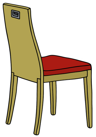 chair wooden: Hand drawing of a wooden chair