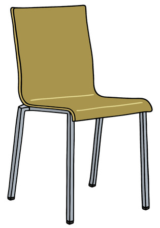 wooden stool: Hand drawing of a modern simple chair