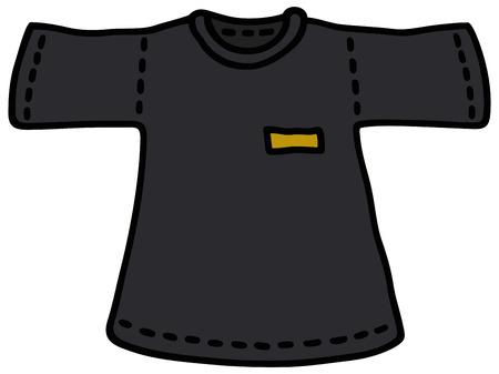 Disegno a mano di una maglietta nera