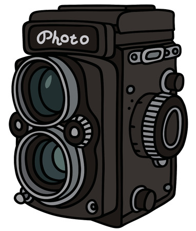 photographic camera: Hand drawing of aretro photographic camera  not a real model Illustration
