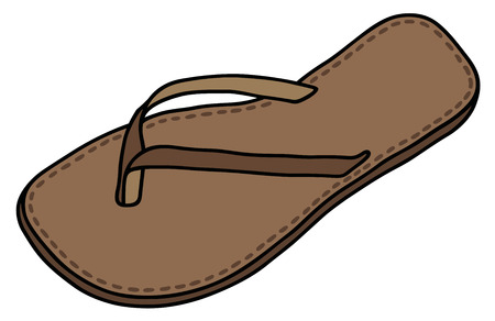 sandal: Gr�fico de la mano de una sandalia de cuero cl�sico Vectores