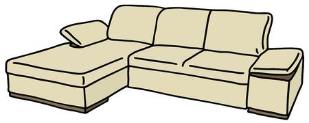 kanapa: Rysunek ręka kanapie śmietaną
