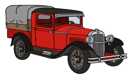 vintage truck: Hand drawing of a vintage truck - not a real type Illustration