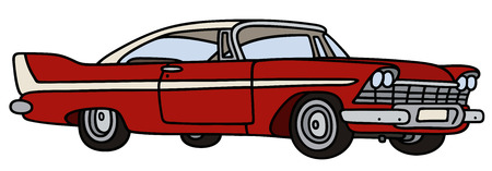 coupe: Hand drawing of a classic big american car