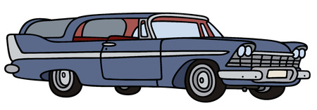 combi: Hand drawing of a classic station wagon Illustration