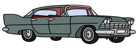 motor de carro: Gr�fico de la mano de un coche americano gran cl�sico Vectores