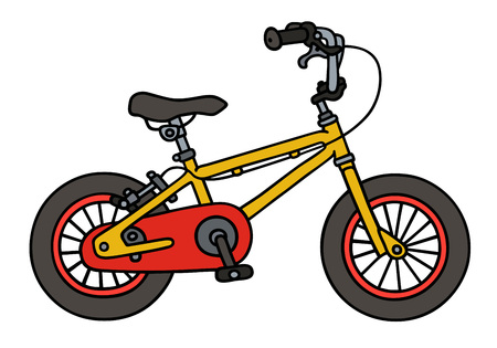 Hand drawing of a child bike