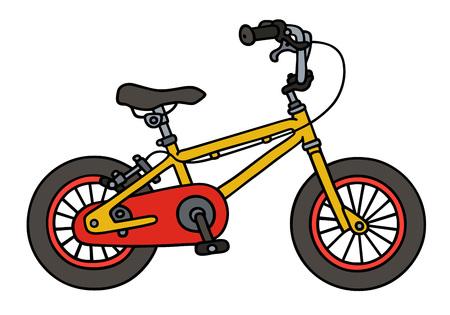 Gráfico de la mano de una bicicleta de niño Foto de archivo - 45661355