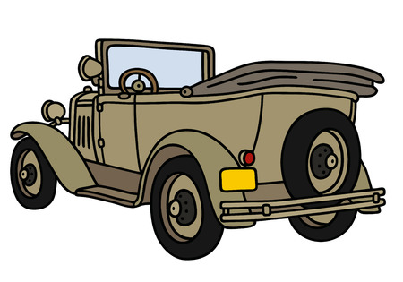 oldtimer: Hand drawing of a vintage military car - not a real model Illustration