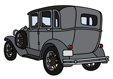 motor de carro: Gr�fico de la mano de un coche de �poca - no es un modelo real Vectores