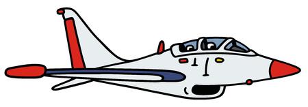 흰색 제트 항공기 - 진짜 형식이 아닌 손을 그리기