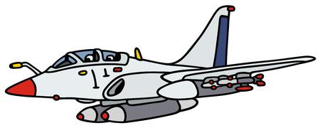 mosca caricatura: Gr�fico de la mano de un avi�n jet blanco - no un tipo de bienes Vectores
