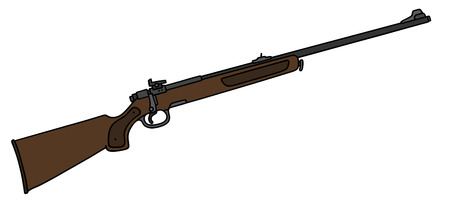 hunting rifle: Hand drawing of a classic hunting rifle Illustration