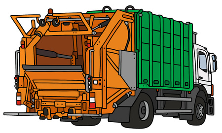 rubbish cart:  a dustcart