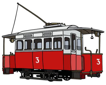 tramway: vintage red tramway