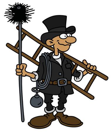 funny classic smokestack sweeper