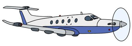 avion caricatura: Gr�fico de la mano de un peque�o avi�n de h�lice Vectores