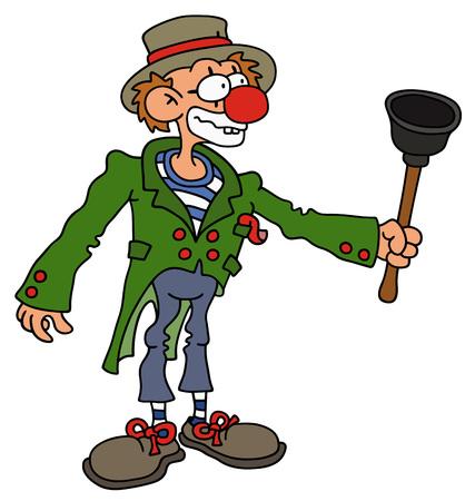 Hand drawing of a funny clown Vektorové ilustrace