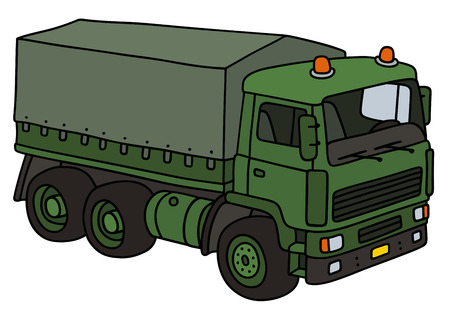 vehicle combat: Hand drawing of a military truck - not a real model